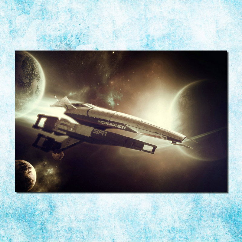 Mass Effect 2 3 4 Hot Shooting Action Game Art Silk Canvas Poster 13x20 24x36 inch Pictures For Living Room Decor (more)-7(China)