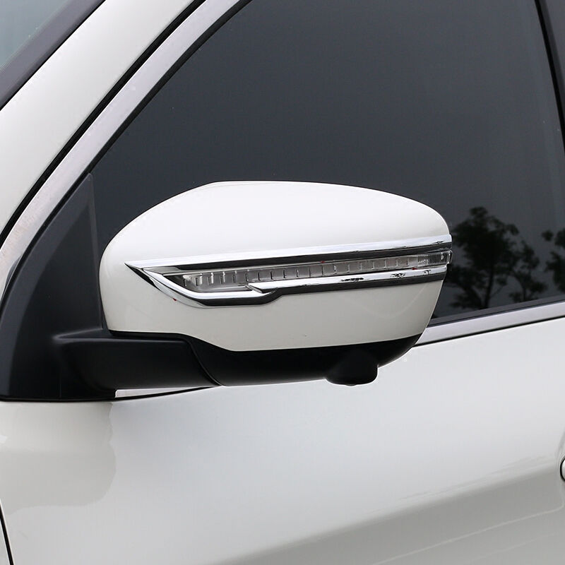 For Nissan Juke 2014 2015 2016 2017 2018 ABS Chrome Car Rearview Mirror Decoration Strip Cover Trim Styling New Accessories 2pcs