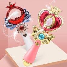 цена Girl Magic Wand Play Toy Magic Illuminate Cane Educational Cosplay Toy Fairy Glow Stick For Children Cosplay Toys онлайн в 2017 году