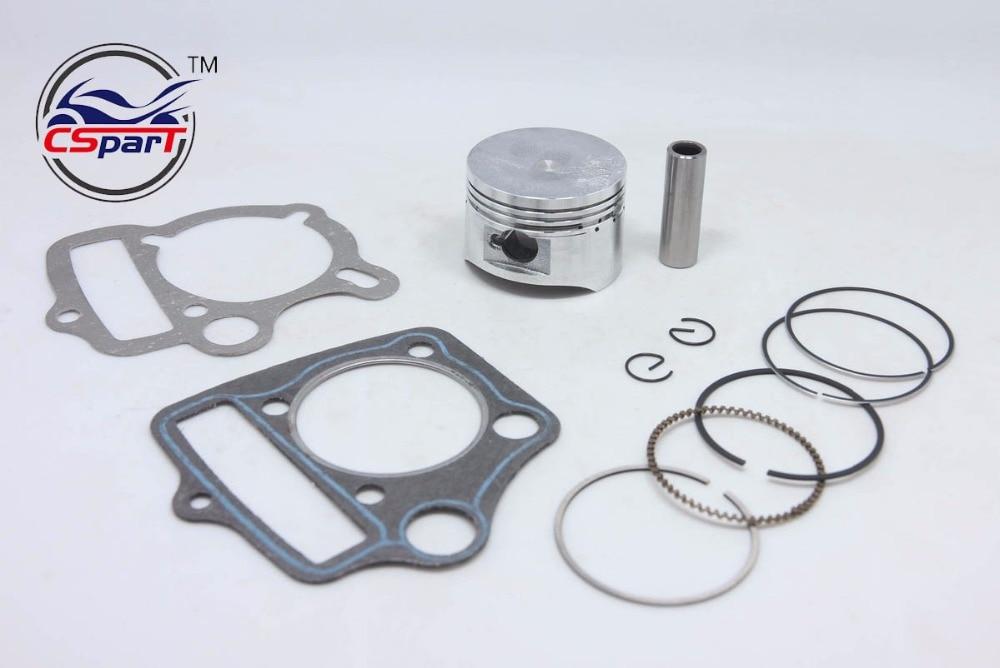 52.4MM 13MM Piston Rings Gasket Kit 110cc ATV Dirt Pit Bikes Kazuma SunL Taotao Lifan ZongShen Loncin