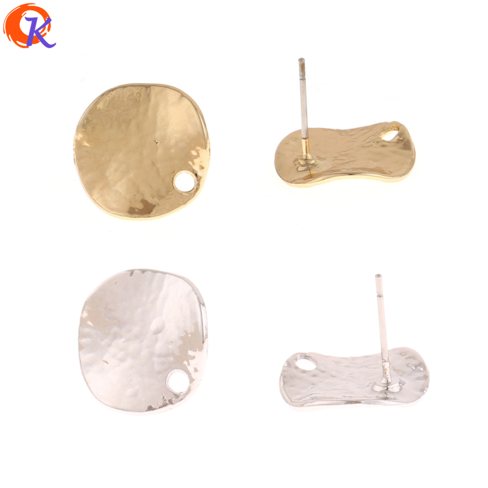 Cordial Design 100Pcs 15*16MM Jewelry Accessories/Earrings Stud/Wave Coin Shape/DIY Earrings Making/Hand Made/Earring Findings