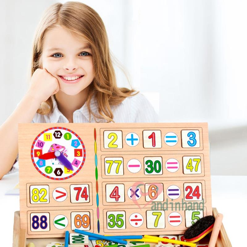 Toys For Children Wooden Counting Math Game Mathematics Kids Toys ...
