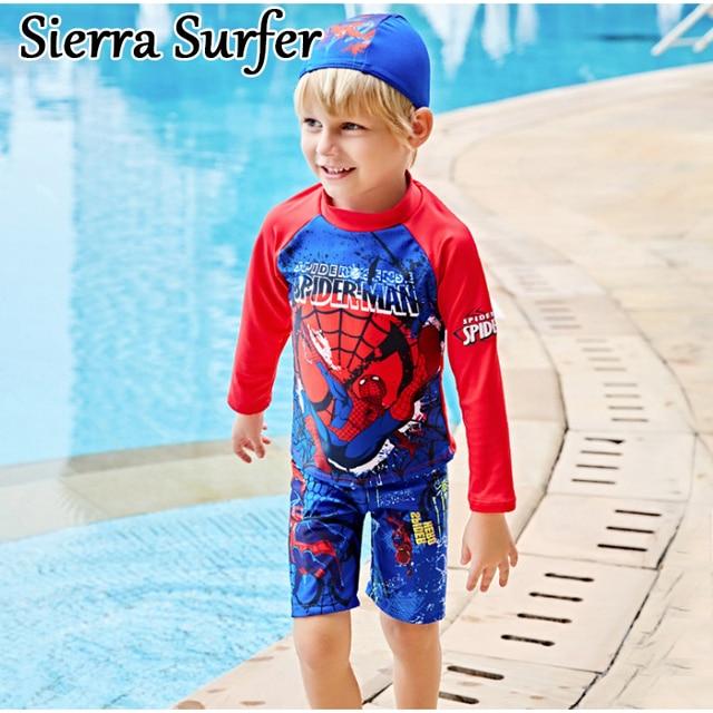 Swimwear Girl Children Boy Swimsuit Two Piece Bathing Suits Swimming Suit For Long Sleeve Biquini Infantil Menina Maillot De