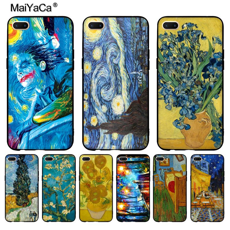 Adroit Maiyaca Van Gogh Starry Sky Oil Painting New Arrival Phone Case For Oppo R9 R9s R11 Plus Casefor Vivo X9 Plus X20 Case Commodities Are Available Without Restriction Phone Bags & Cases Cellphones & Telecommunications