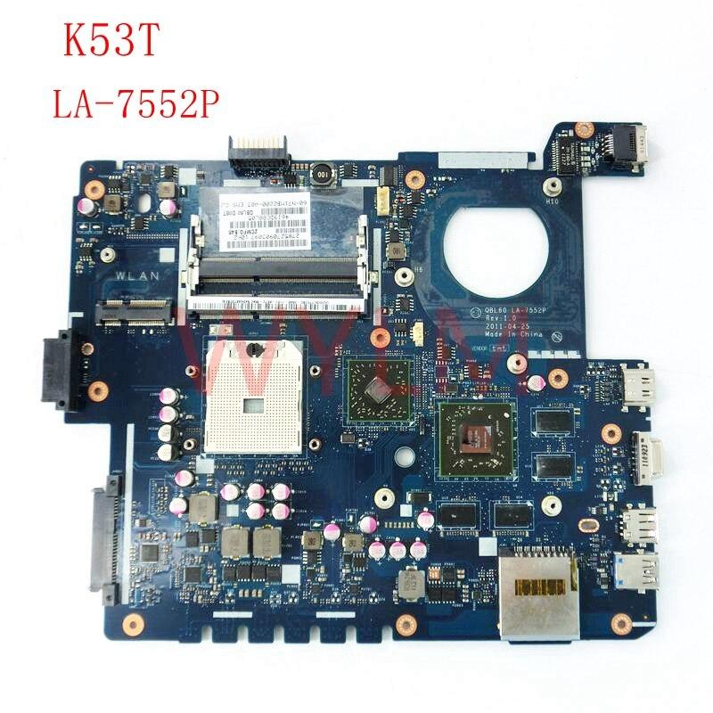 K53T QBL60 LA-7552P USB 3.0 DDR3 carte mère Pour ASUS K53TA K53TK K53T X53T X53TA X53TK mère D'ordinateur Portable livraison gratuite
