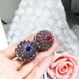 Image 4 - Dazz Brand Open Ring Creative Fantasy Bird Cage Round House Ring Full Zircon Color Dubai Womens Men Fun Luxury Accessories 2019