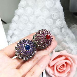 Image 4 - Dazz Marke Offenen Ring Kreative Fantasie Vogel Käfig Runde Haus Ring Voll Zirkon Farbe Dubai Frauen der Männer Spaß Luxus zubehör 2019