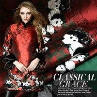 Tridimensional panda fuzzy posicionamento jacquard tecidos vestuário de moda primavera, verão, outono vestido fabrics/100 cm * 160 cm