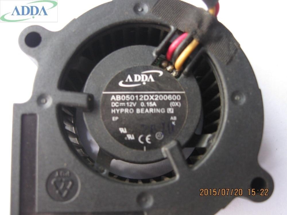 ADDA 5 cm AB05012DX200600 5020 12 v 0.15a Ventola Di Raffreddamento del ventilatore