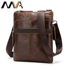 MVA Men Bag Genuine Leather For Mens shoulder bags High Quality Handbags Small Vintage men Crossbody Messenger Bag sac a main