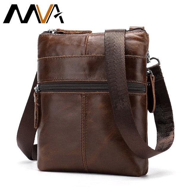 Mva Mannen Tas Echt Leer Voor Mannen Schoudertassen Hoge Kwaliteit Handtassen Kleine Vintage Mannen Crossbody Messenger Bag Sac een Belangrijkste