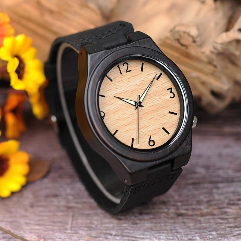 Zegarek drewniany Bobo Bird Glow B11 5