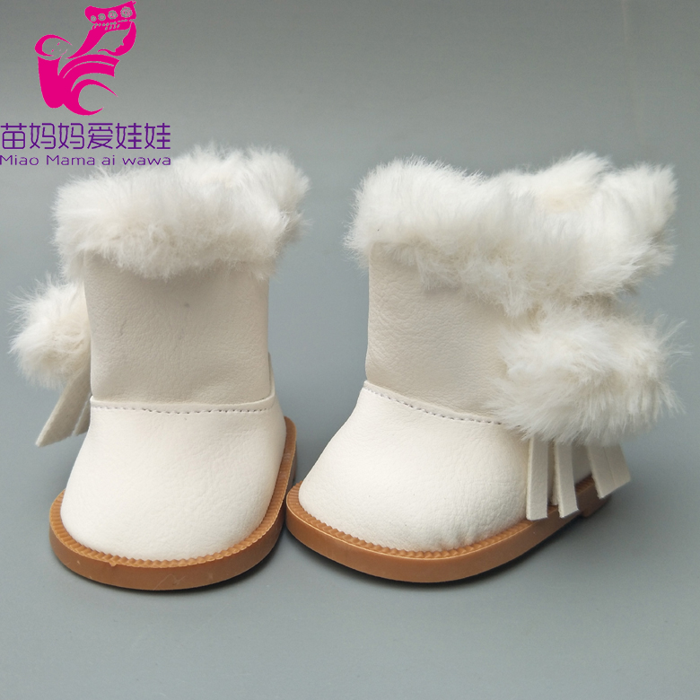 18 inch American Girls Dolls Snow Boots shoes for Zapf baby born dolls winter shoes toys ...