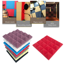 25x25CM Soundproofing Acoustic Studio Absorbing Wedge Foam  Tiles Wall Panels Suitable For Sound Studio Acoustic Foam Panel 24pcs 30x30x3cm soundproofing foam acoustic foam sound treatment studio room absorption wedge tiles polyurethane foam