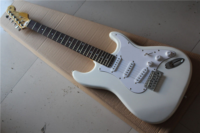 free shipping Top quality New Arrival  st Guitar white Electric Guitar Real photo Rosewood fingerboard  1117free shipping Top quality New Arrival  st Guitar white Electric Guitar Real photo Rosewood fingerboard  1117
