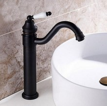 Oil Rubbed Bronze Gooseneck Porcelain Single Handle Swivel Kitchen Bathroom Sink Basin Faucet Mixer Taps anf105