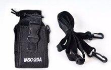 Walkie talkie portátil funda de nylon MSC 20A caja de radio bidireccional para walkie talkie UV 5R,888s,KD C1, bolsa de nylon de radio bidireccional
