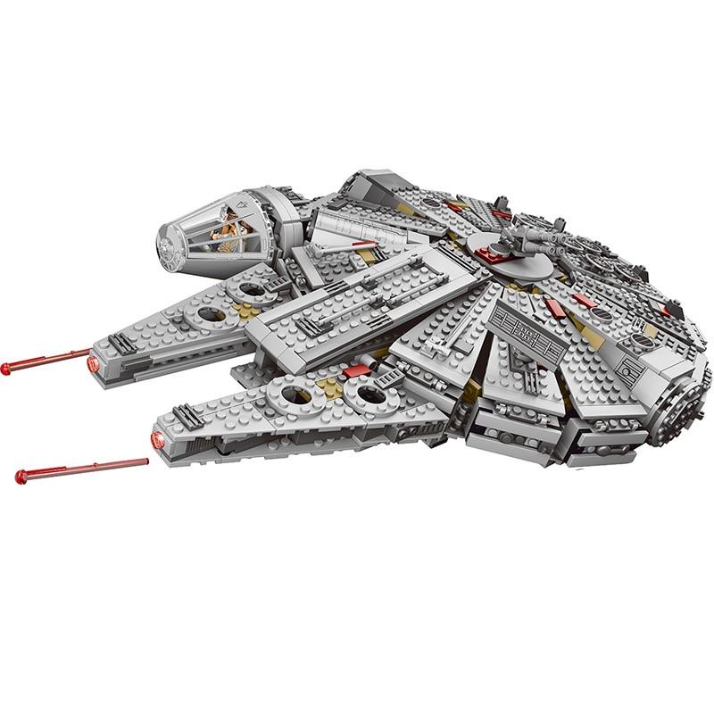Jeu d'étoiles de réveil de Force série Wars Compatible LegoINGLYS 79211 figurines de faucon du millénaire modèle blocs de construction jouets pour enfants - 2