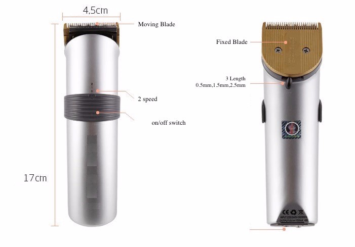 Electric 2 speed Hair Clipper Rechargeable Hair Trimmer Cordless Adjustable Clipper With Charge Stand and 4 Guide Comb1