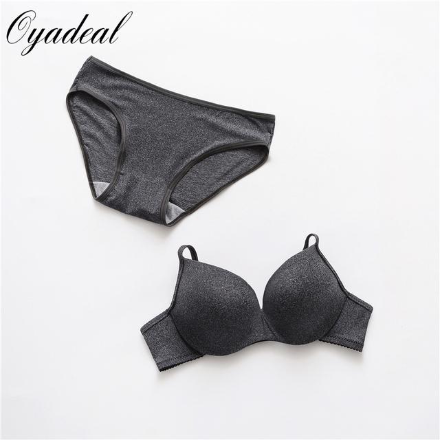 Nueva Sexy sistema del sujetador de la chica joven 100% algodón de color sólido suave color Sólido ropa interior sujetador breves conjuntos de sujetador Intimates