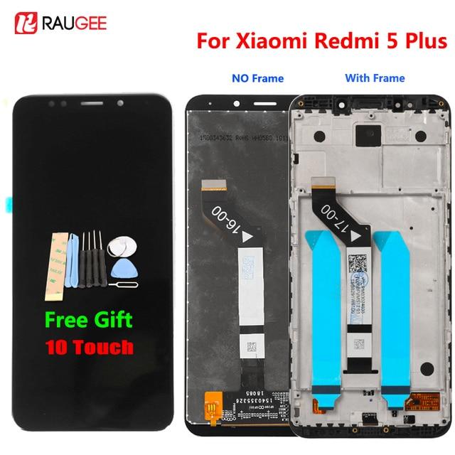 """ل Xiaomi Redmi 5 زائد شاشة إل سي دي باللمس شاشة 100% جديد FHD 5.99 """"محول الأرقام الجمعية استبدال التبعي ل Redmi5 زائد"""