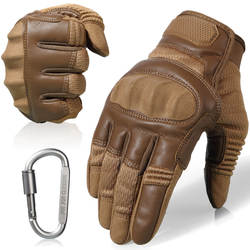 Сенсорный экран Кожаные Мотоциклетные Skidproof с твердыми костяшками полный палец защитные перчатки Экипировка для спорта на открытом