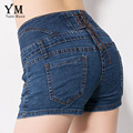 YuooMuoo New Fashion Women Short Jeans European Style 5 Buttons Design High Waist Summer Shorts Slim Hip Shorts for Women