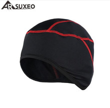 ARSUXEO Winter Warm Up Fleece Cycling Caps Outdoor Sports MTB Mountain Bike Masks Headscarf Bicycle Accessories