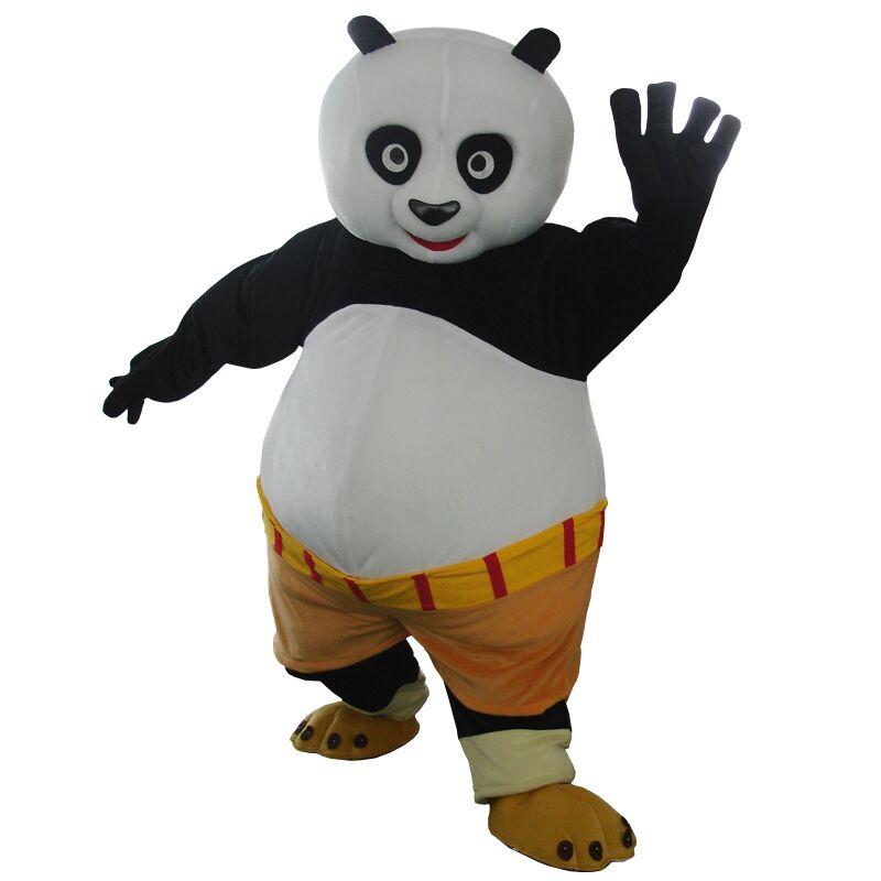 Costume de mascotte de panda de Kungfu de taille adulte costume de mascotte de Panda de Kungfu