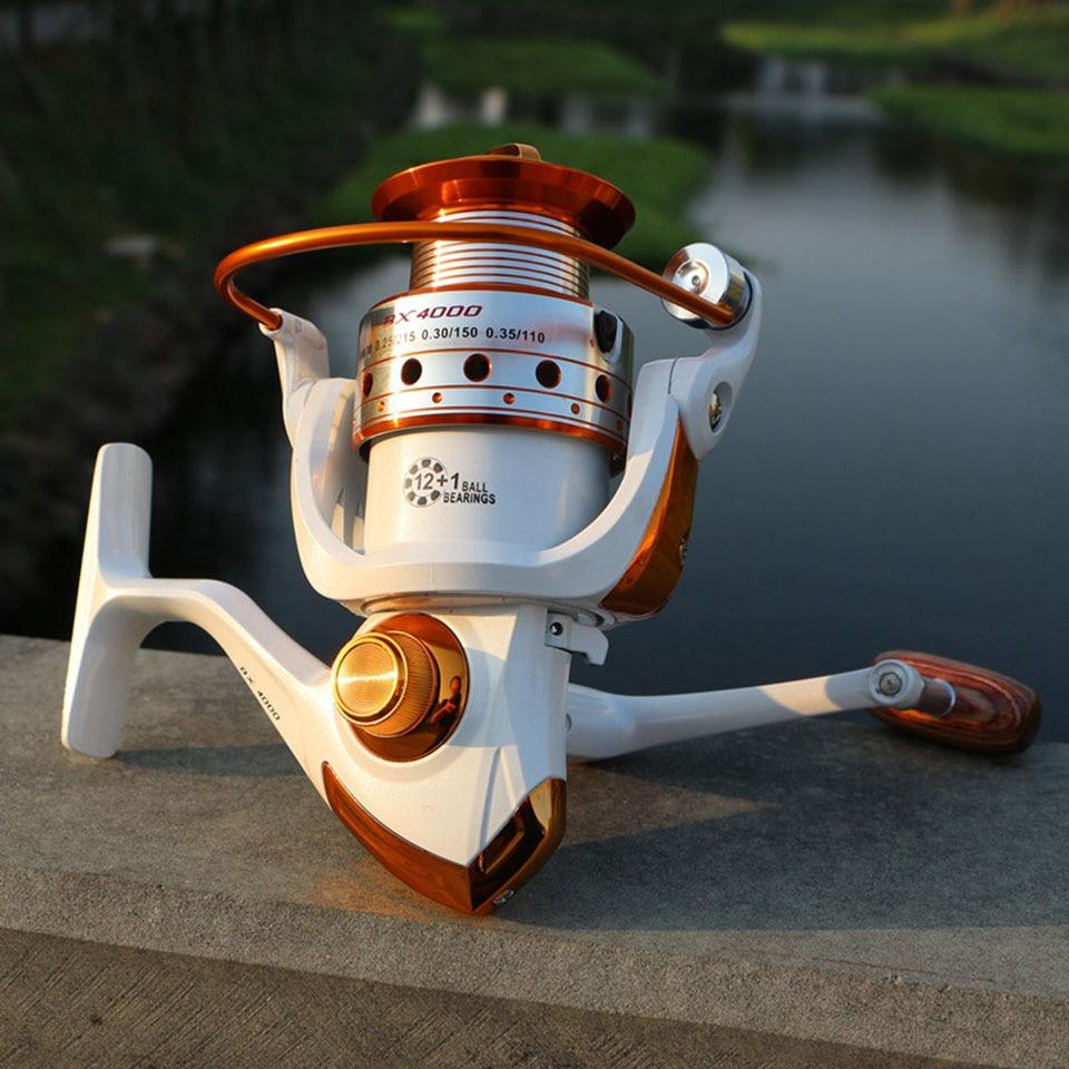 12 1BB Gear Ratio 5 2 1 500 9000 Series Metal Line Cup Spinning Fishing Reel