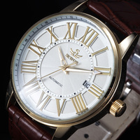Vestido do vintage Reloj SEWOR Marca Automático Mecânica Assista Homens Auto Data Roma Classe de Negócios Relogio masculino Relógios Desportivos