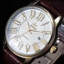 Vintage Robe Reloj SEWOR Marque Automatique Mécanique Montre Hommes Auto Date Rome Classe D'affaires Relogio Masculino Montres de Sport