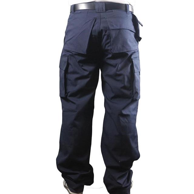 Working Pants Men Multi Pockets Work Cargo Pants Large