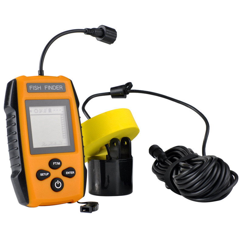LED back-lighting 4 x AAA batteries Portable Echo Sounder 100M Sonar LCD Echo Sounders Fishfinder Wired sonar fish finder
