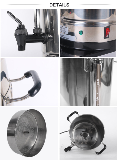 ITOP wysokiej jakości 6L automatyczne ze stali nierdzewnej ekspres do kawy filtr ekspres do kawy Espresso ue US wtyczka tanie i dobre opinie IP06 STAINLESS STEEL Americano 1500W 110-220 V Z Wyświetlaczem