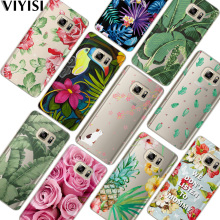 VIYISI For Samsung Galaxy s8 A5 2017 Case S9 Plus Phone case Coque J7 J5 J3 A3 2015 2016 S6 S7 Edge Flowers Fundas Cover