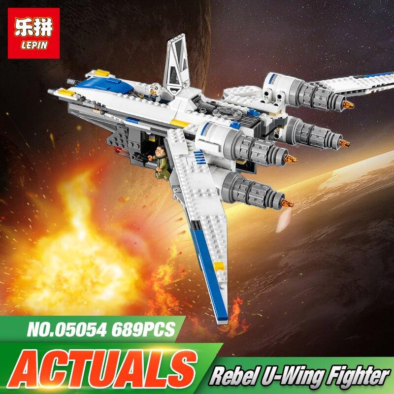 Лепин 05054 Совместимость legoing 75155 Star Wars Rebel U-Wing Fighter строительные блоки Развивающие игрушки для детей Подарки