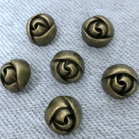 New 50PCS 15MM Bronze Rose Flower Rivet Punk Spike Flower Rose Studs Spikes Shoes Belt Bag