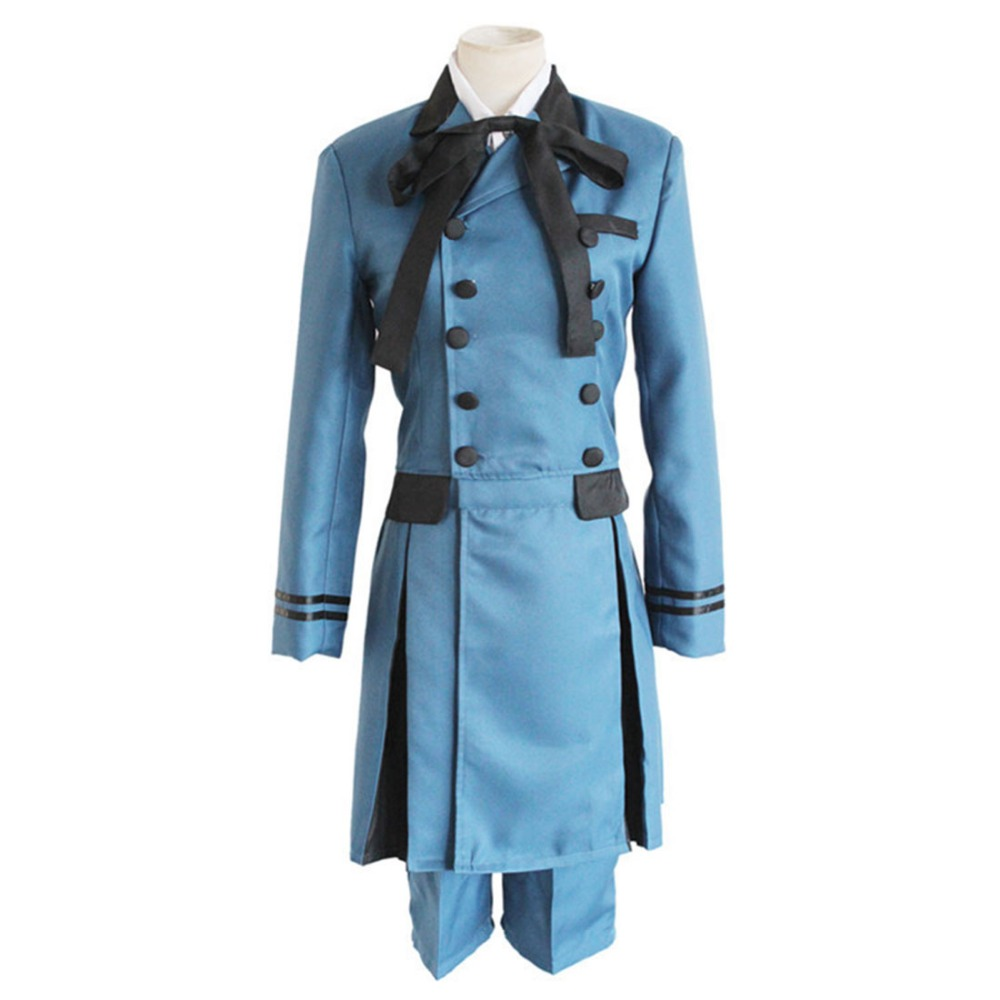 Kuroshitsuji Black Butler Ciel Phantomhive Cosplay Costume Double Breasted  Blue Royal Noble Suit Halloween Costume for men-in Holidays Costumes from  Novelty ...