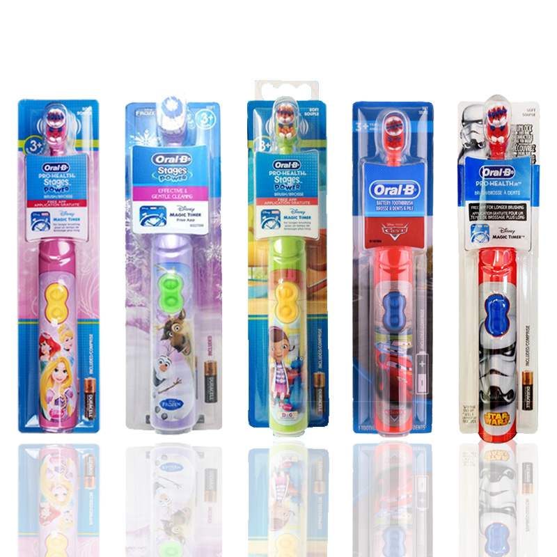 Image 5 - Kids Electric Toothbrush Oral B For Children's Oral Teeth Hygiene With 7200 Times Rotation Vibrator Disney Cartoon Images Oral b-in Electric Toothbrushes from Home Appliances