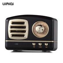 Altavoz Bluetooth UiRiQi, Mini altavoz inalámbrico Vintage, Retro, bajo pesado, estéreo, sonido envolvente, HiFi, efectos TF, USB, AUX Radio BT