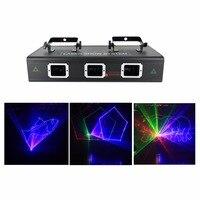 AUCD 1.6 W 3 Obiektyw Czerwony Zielony Niebieski Animacja Wiązki Światła Laserowego Profesjonalny DJ Party Pokaż Klub Dom Bar Oświetlenia Scenicznego DMX 503