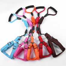 Puppy Camisole Traction Rope Strong With Dog Collar Foam Handle Teddy Pet Training Supplies