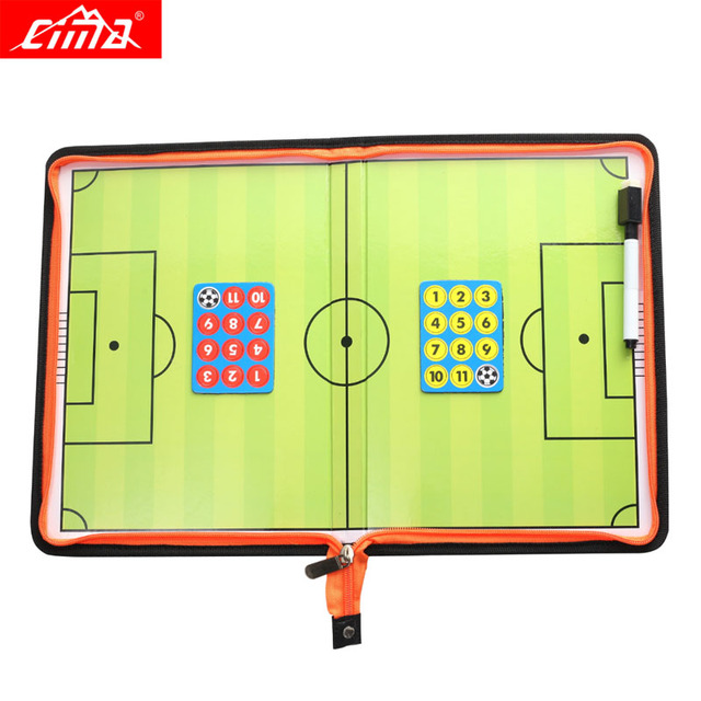 6e65f7505 CIMA New Soccer coach board magnetic Tactical plate with pen for Football  write book with zipper Sports coaching equipment