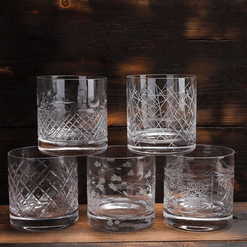 Free Shipping 2PCS Old Fashioned Whiskey Glasses, Excellent For Cocktail Bourbon Rocks Glassware 380ml Barware Pack of 2