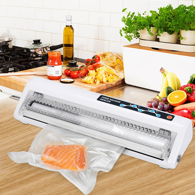 LAIMENG Vacuum Packing Machine 110V 220V Best Vacuum Food Sealer With Free Food Saver Packs For Vacuum Packer Vacuum Bags S140