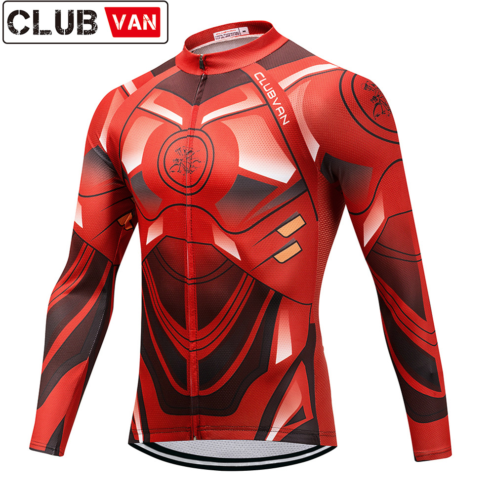 42d6949e1 CLUBVAN 2018 Long Sleeve Autumn Pro Cycling Jerseys MTB Bike Clothing  Breathable Bicycle Clothes Maillot Ciclismo