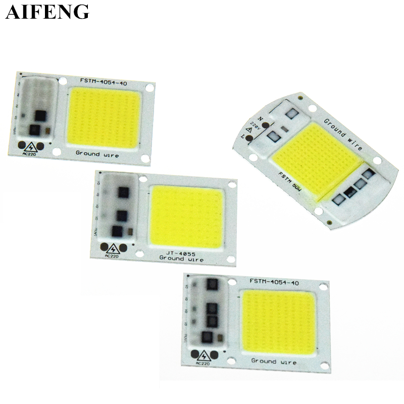 AIFENG Smart IC Led COB Chip 15W 20W 30W 50W No Need Driver Led Chip 220V 230V 240V For DIY Led Floodlight Spotlight Light Beads 2 pieces 220v directly 30w 50w 100w integrated ic led pcb smd 5730 aluminum base plate no need driver for floodlight free