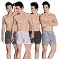 17 cores homens underwear boxer soltas homem bxman 100% algodão 4 peças/lote underwears para o tamanho dos homens (m-xxl)