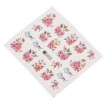 2 Sheet Nail Sticker Pink Flower Water Decal Transfer Slider for Manicure Nail Art Decoration Nail Sticker(China)